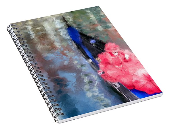 Venice Carnival. Masked Woman In A Gondola Spiral Notebook