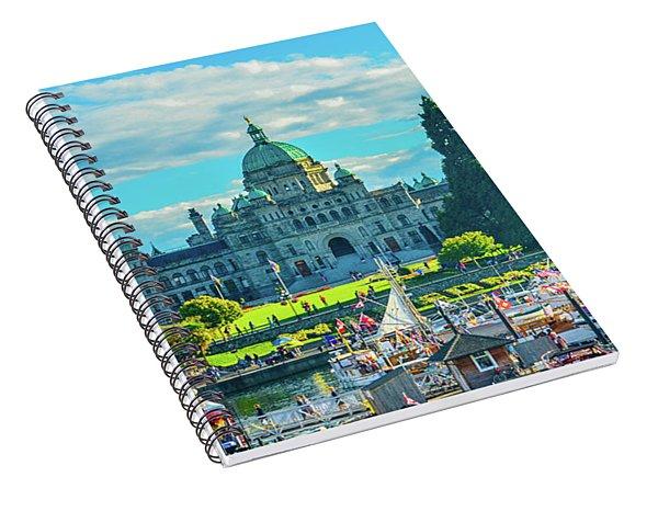 Victoria Bc Parliament Harbor Spiral Notebook