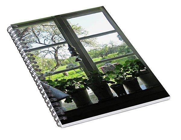 View To The Garden Spiral Notebook