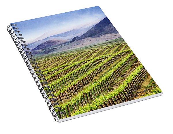 Spiral Notebook featuring the photograph Vineyard by Scott Kemper