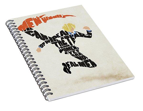 Vinsmoke Sanji Typography Art Spiral Notebook