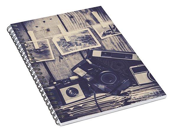 Vintage Camera Gallery Spiral Notebook