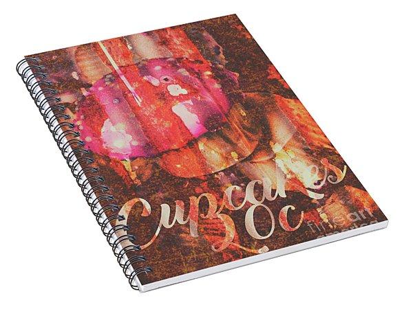 Vintage Cupcake Tin Sign Spiral Notebook