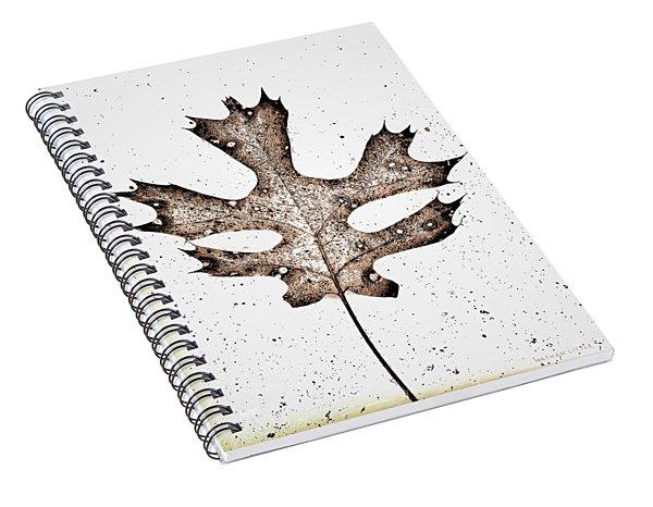 Vintage Leaf Spiral Notebook