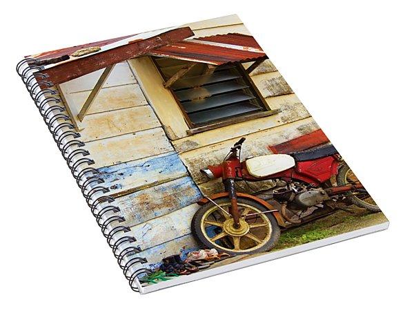 Vintage Motorbike Spiral Notebook