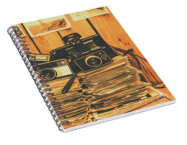 Vintage Photography Stack Spiral Notebook