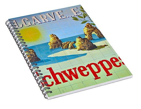 Vintage Schweppes Algarve Mosaic Spiral Notebook