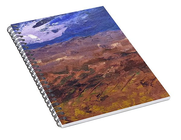 Spiral Notebook featuring the painting Violet Night  by Norma Duch