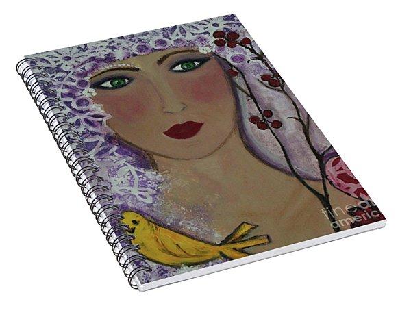 Violet Queen Spiral Notebook
