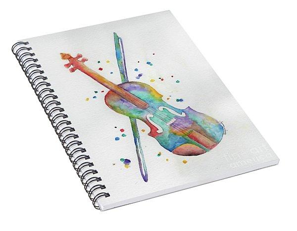 Violin's Song Spiral Notebook