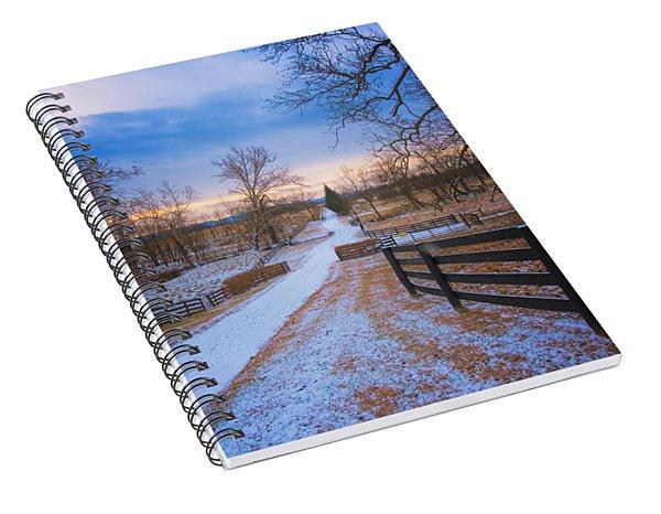 Virginia Country Lane Spiral Notebook