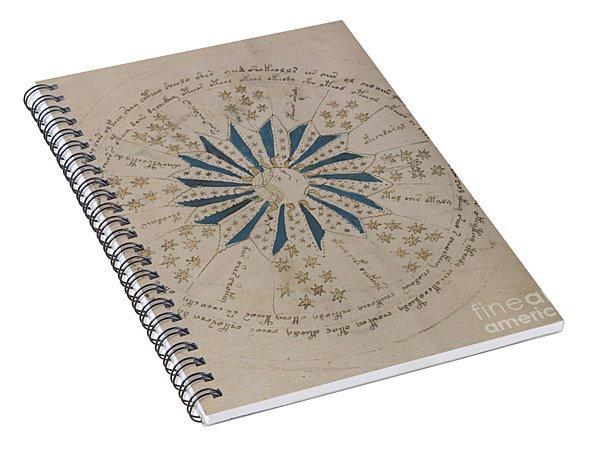 Voynich Manuscript Astro Rosette 1 Spiral Notebook