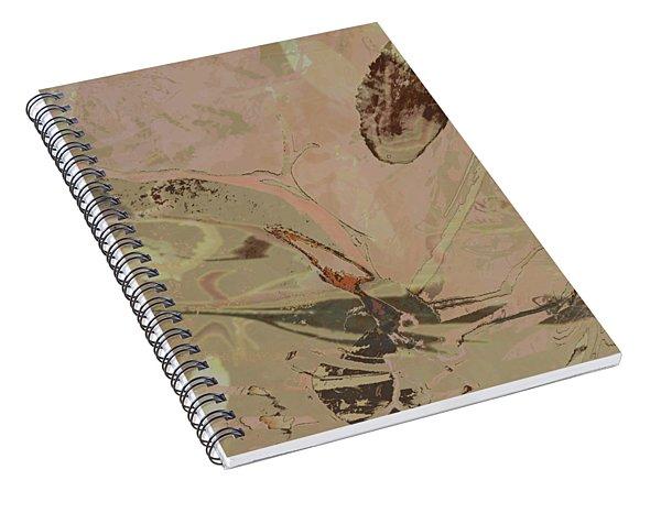 Wabi-sabi Ikebana Remix Warm Taupes Spiral Notebook
