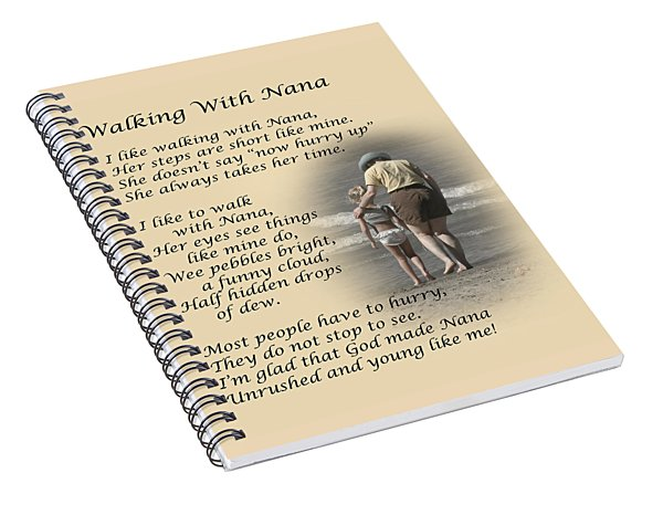 Walking With Nana Spiral Notebook
