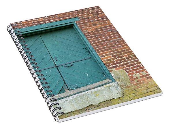 Warehouse Loading Door And Brick Wall Spiral Notebook