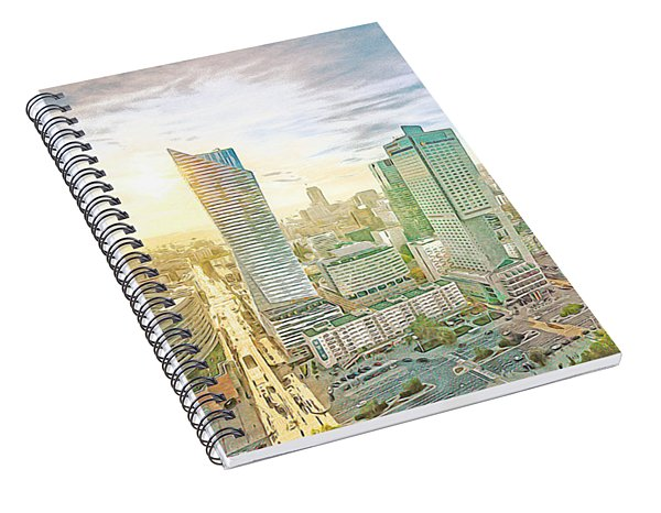 Warsaw Poland Skyline Spiral Notebook