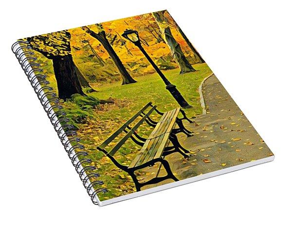 Washington Square Bench Spiral Notebook