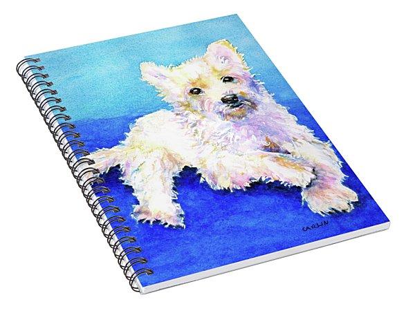 Westie Painting In Watercolor  Spiral Notebook