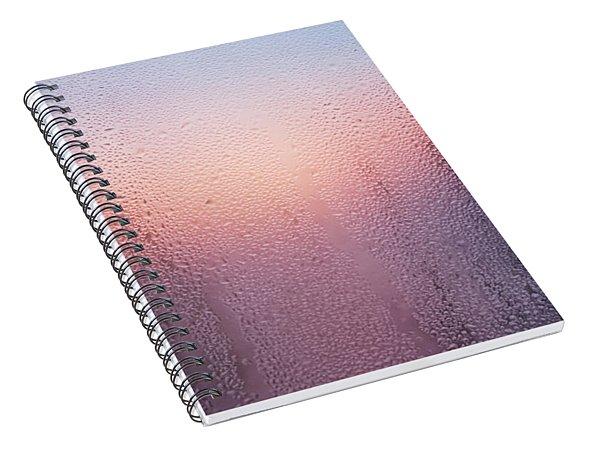 Wet Glass In A Summer  Spiral Notebook