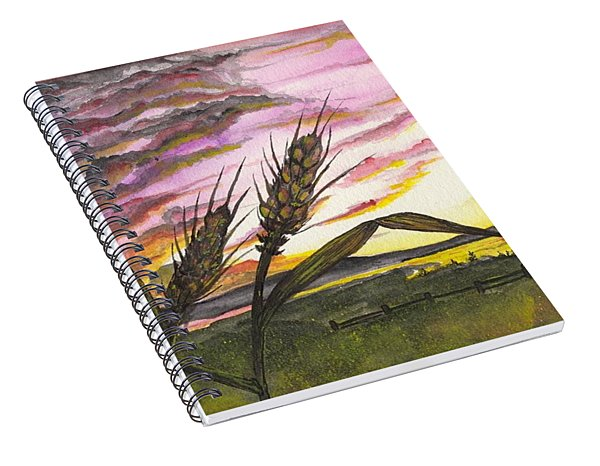 Wheat Field Spiral Notebook