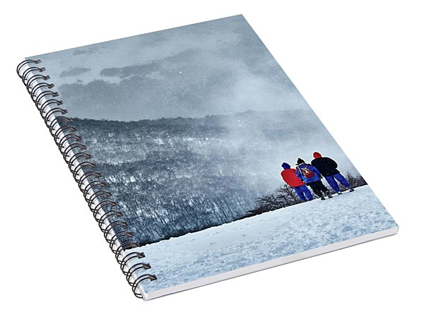 White Landscape In The Frozen Paradise Spiral Notebook