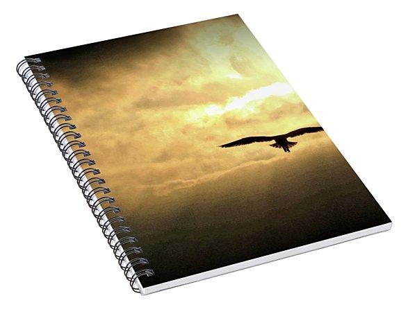 White Light Sunrise Spiral Notebook