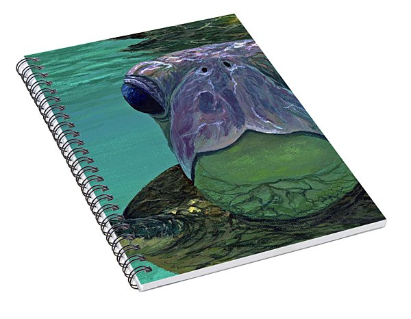 Spiral Notebook featuring the painting Who Me? by Darice Machel McGuire