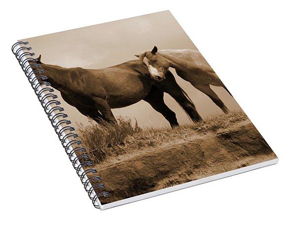 Wild Horses In Western Dakota Spiral Notebook
