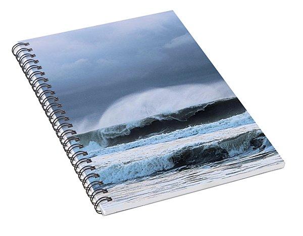 Wind Blown Waves Spiral Notebook