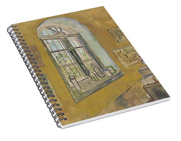 Window In The Studio Saint-remy-de-provence, September - October 1889 Vincent Van Gogh 1853 - 1890 Spiral Notebook