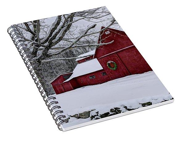 Winter Barn Spiral Notebook