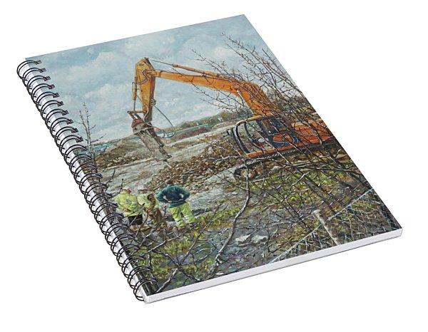 Winter Building Site Breaker Spiral Notebook