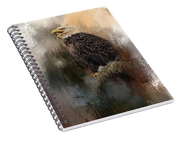 Winter Eagle 3 Spiral Notebook