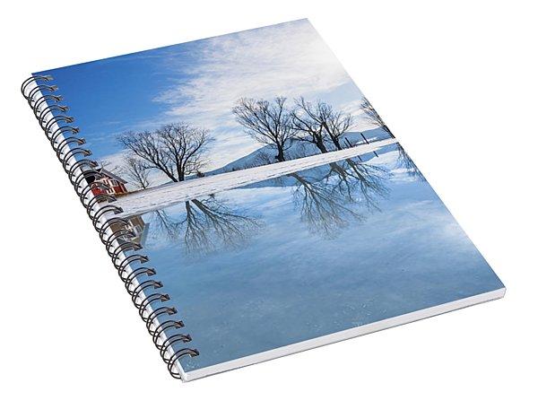 Winter Reflection Landscape Spiral Notebook