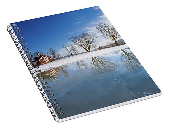 Winter Reflection Spiral Notebook