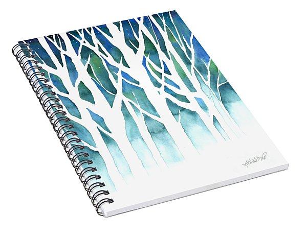 Winter Silhouette Spiral Notebook