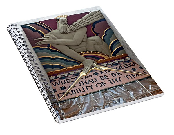 Wisdom Lords Over Rockefeller Center Spiral Notebook