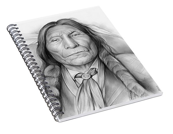 Wolf Robe Spiral Notebook