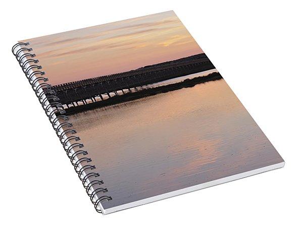Wooden Bridge And Twilight Spiral Notebook