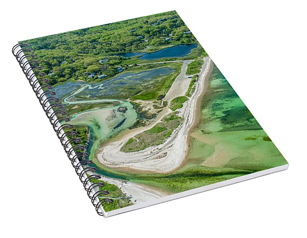 Woodneck Beach At 400 Feet Spiral Notebook