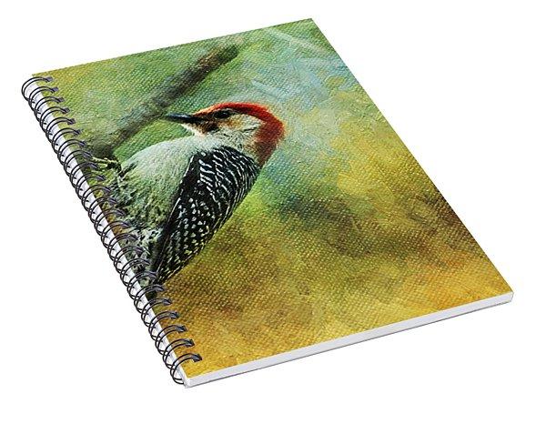 Woodpecker On Cherry Tree Spiral Notebook
