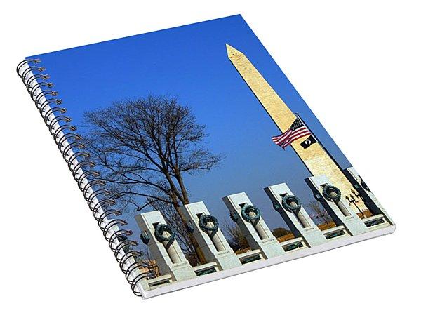 World War II Memorial And Washington Monument Spiral Notebook