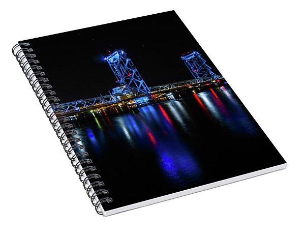 Wwi Memorial Bridge Blue Spiral Notebook