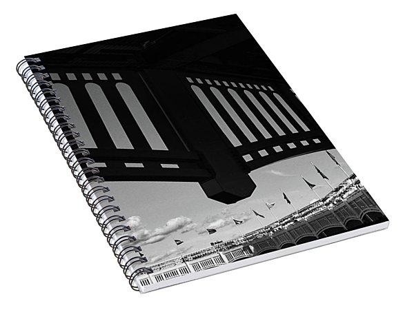 Yankee Stadium Facade - B And W Spiral Notebook