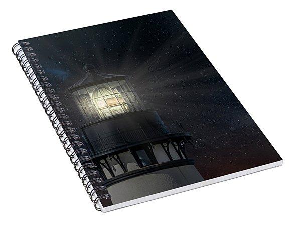 Yaquina Head At Night Spiral Notebook