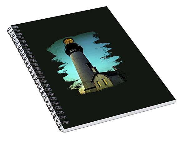 Yaquina Head Lighthouse At Sunset Spiral Notebook