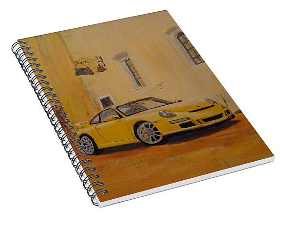 Yellow Gt3 Porsche Spiral Notebook