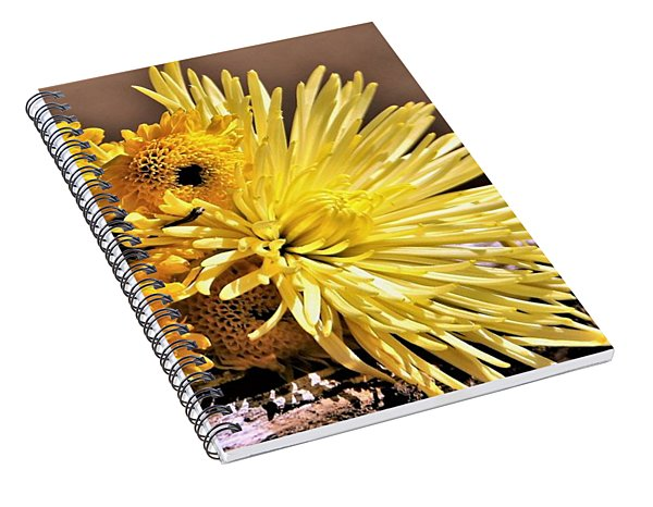 Yellow Mums In Morning Light Spiral Notebook