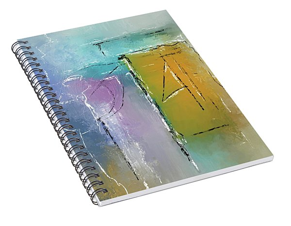 Yellows And Blues Spiral Notebook