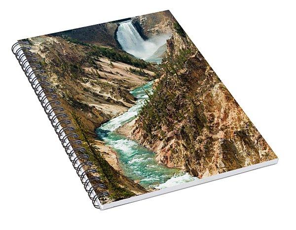 Yellowstone Waterfalls Spiral Notebook